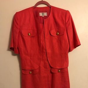 Vintage Valentino Coral dress and jacket